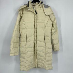 Columbia Cream Long Down Puffy Winter Jacket